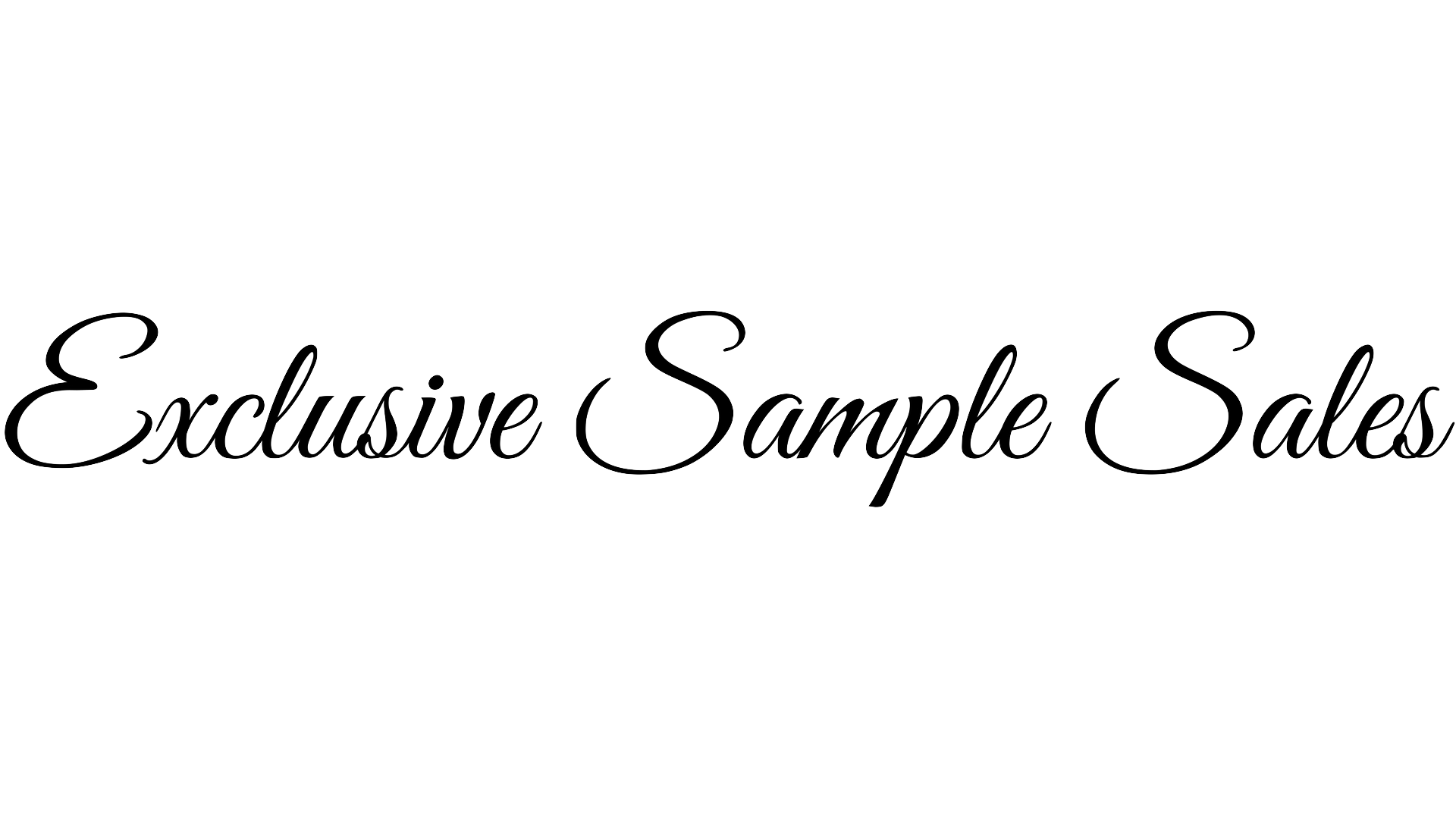 Exclusive Sample Sales